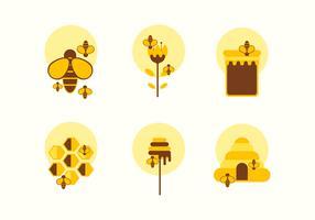 Set di icone piatto Hornet