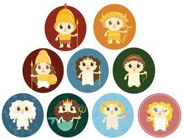 Vettori di divinità greche gratuite