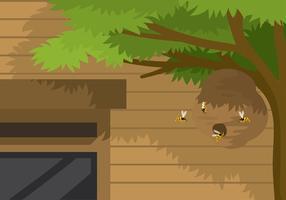 vettore gratis del nido del calabrone