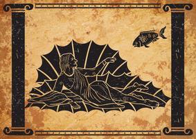 Dea greca Afrodite vettore