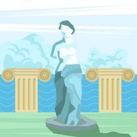 Statua afrodea della dea greca vettore