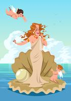 Afrodite e Cupido vettore
