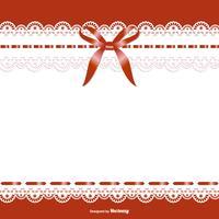Bellissimo modello di giarrettiera della sposa vettore