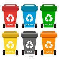 Ricicla la raccolta dei rifiuti vettore
