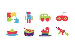 Set di icone di giocattoli vettore