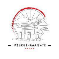 Santuario Porta di Itsukushima vettore