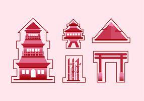 Piatto adesivo Red Shrine