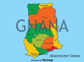 Ghana mappa vettoriale