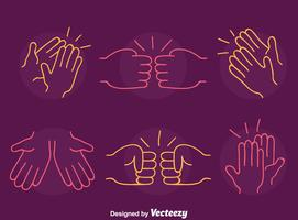 Vettore di gesto di mano di schizzo