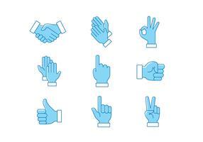 Pacchetto di mani che applaudono vettoriale