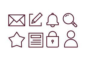 Set di icone di Blogger Content Creator vettore