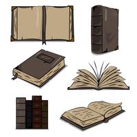 Vecchio vettore antico libro