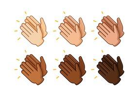 Vettori di mani che battono le mani