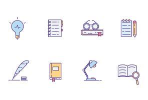 Icone letterarie vettore