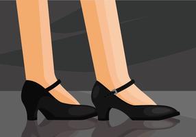 Tocca l'illustrazione delle scarpe vettore