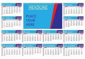 Vettore mensile stampabile del calendario