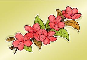 clipart di fiori di pruno vettore