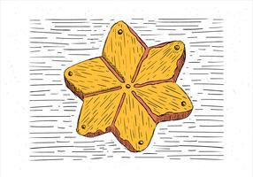 Illustrazione di torta di autunno disegnata a mano libera