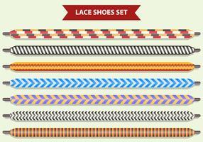 Set di lacci delle scarpe vettore