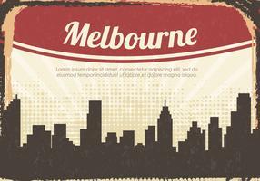 silhouette vintage città di melbourne vettore