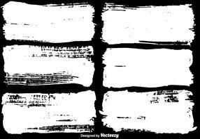 Set di banner vernice distressed vettoriale