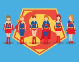 Set vettoriale Superwoman