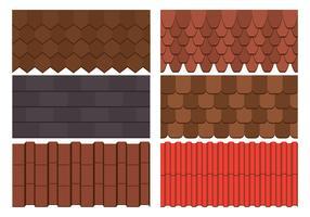 Insieme di vettore delle mattonelle di tetto