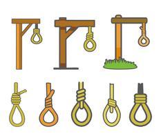 Gallows and Rope Hang Vector gratuito