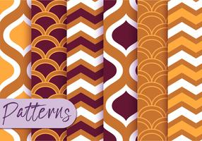Set di motivi decorativi geometrici vettore