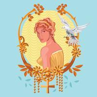 Chiuda sulla nascita della dea greca Afrodite vettore