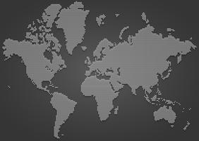 Mappa del mondo globale punteggiato di vettore