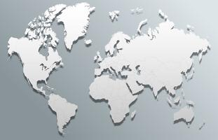 vettore 3d mappa del mondo globale