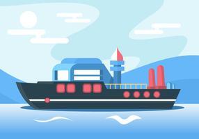 Vettore della nave
