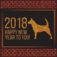 Anno di vettore dell'illustrazione del cane