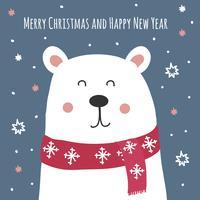 Fondo di vettore della cartolina di Natale