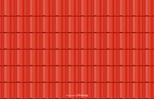 Fondo senza cuciture di vettore rosso delle mattonelle di tetto