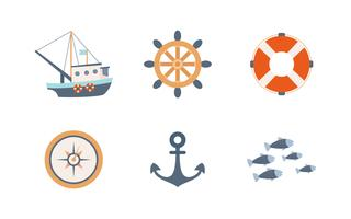 Eccezionale set di vetture da pesca vettore