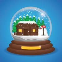 Vettore realistico del globo della neve