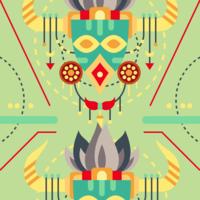Maschera di illustrazione di sciamano vettore