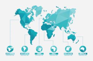 Illustrazione di mappe globali vettore