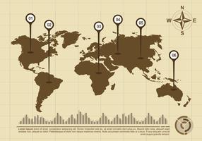 Mappe globali Infographic vettore