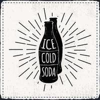 Sfondo di vettore di soda disegnati a mano libera