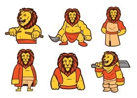 vettore della mascotte del leone