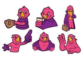 Vettore della mascotte del pappagallo