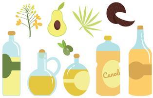 Vettori di oli vegetali gratuiti