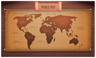 Vettore di mappa globale antica