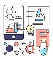 Icone di chimica lineare gratuite vettore