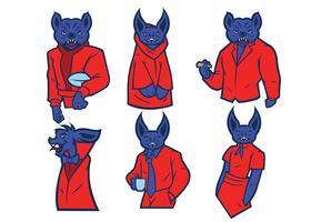 Vettore della mascotte dei pipistrelli