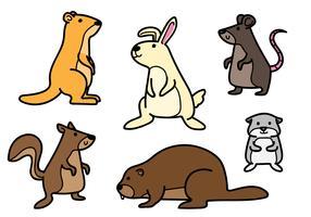 Set di cartoni animati di roditore