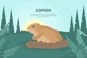 Illustrazione di Gopher vettore
